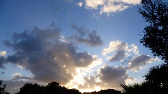 un ciel merveilleux du soir a Bonfacio